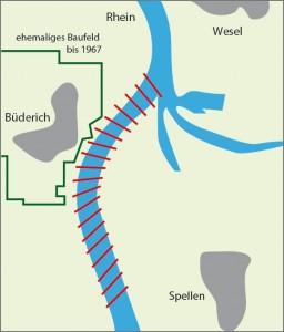 Infografik: durch den ehemaligen Salzbergbau hervorgerufenen Senkungen haben auch Einfluss auf den Rhein